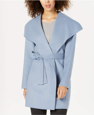 Tahari Double-Face Wool-Blend Wrap Coat