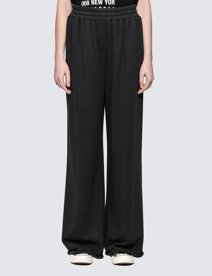 Alexander Wang Soft French Terry Wide Leg Pants
