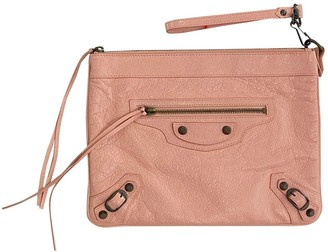 Balenciaga City Pink Leather Clutch bags