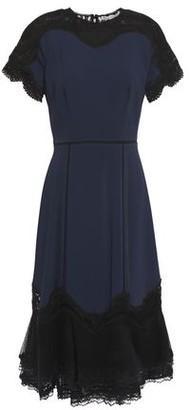 Jonathan Simkhai Flared Lace-paneled Crepe Dress