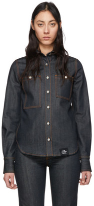 S.R. STUDIO. LA. CA. Indigo Denim Button Down Shirt