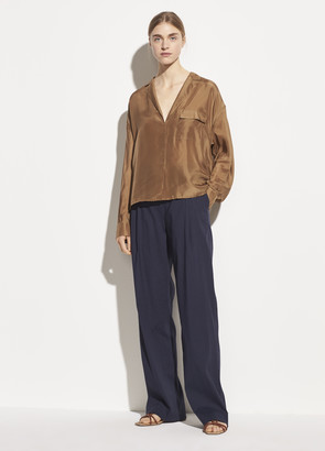 Vince Pleat Front Pull On Pant