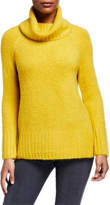 Joan Vass Cowl-Neck Long-Sleeve Sweater