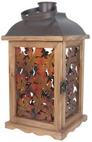 Celebrate Fall Together Metal Leaves Lantern Table Decor