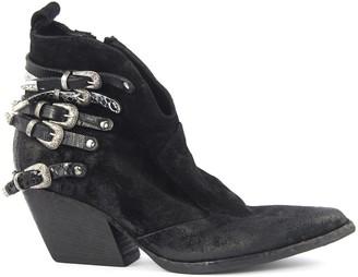 Elena Iachi Black Suede Ankle Boots