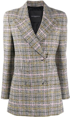Ermanno Scervino Plaid Double-Breasted Blazer