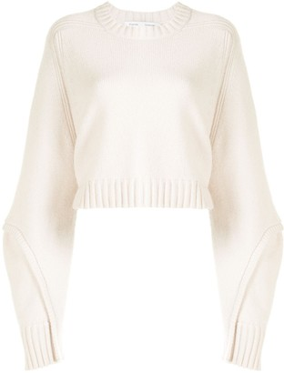 Proenza Schouler White Label Exposed-Seam Cropped Jumper