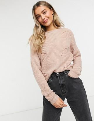 JDY Daisy pullover knitted jumper in light rose