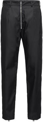 Prada zipper detailed casual trousers