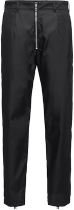 Prada Zipper Detailed Casual Trousers