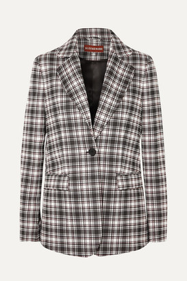 ALEXACHUNG Checked Woven Blazer - Black