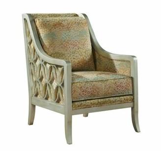 Hekman Harper Armchair Hekman Body Fabric: 2364-084, Leg Color: Worn Antique Black, Seat Cushion Fill: Spring Feather Down, Back Cushion Fill: Standard