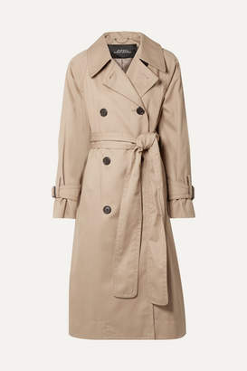 Marc Jacobs Runway Oversized Cotton-twill Trench Coat - Beige