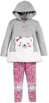 Nannette Little Girls' 2-Pc. Cat Hoodie & Leggings Set