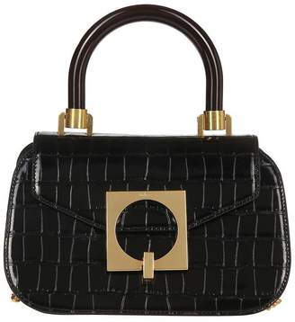 Mulberry Embossed Top-Handle Tote Bag