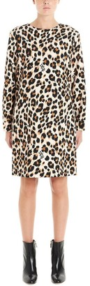 Boutique Moschino Leopard Print Shift Dress