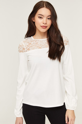 Ardene Long Sleeve Top with Lace
