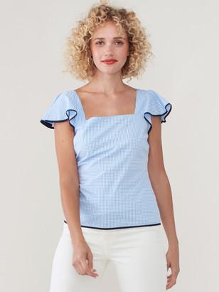 Sail to Sable Shirred Short Sleeve Top