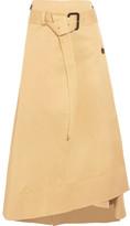 Joseph Berwick Cotton-poplin Wrap Midi Skirt - Beige