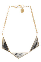 Kelly Wearstler Tri-Point Rutilated Quartz Plated Necklace in Gold