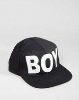 Boy London Snapback White Script