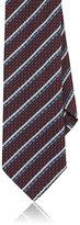 Barneys New York Men's Striped Silk Necktie-BURGUNDY