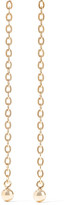 Saskia Diez Barbelle Gold-plated Earrings