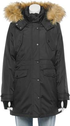 Madden-Girl Juniors' Faux-Fur Hood Parka Jacket