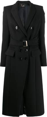 Elisabetta Franchi fitted belted coat