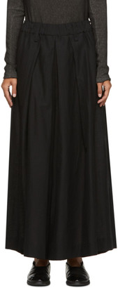 Issey Miyake Black High-Waisted Trousers