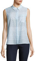 Two By Vince Camuto Printed Sleeveless Blouse