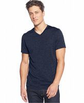 Alfani Men's Big and Tall Heathered V-Neck T-Shirt, Classic Fit