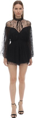 Alice McCall Ruffled Lace Mini Dress