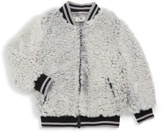 Widgeon Little Girl's & Girl's Faux Fur Varsity Jacket