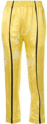Haider Ackermann 'Dianthus' cropped trousers