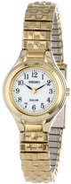 Seiko Women's SUP102 Solar Expansion Classic Gold-Tone Stainless Steel Watch with Link Bracelet