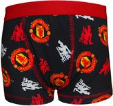 Manchester United F.C. Manchester United FC Official Football Gift 1 Pk Boys Boxer Shorts Blk 11-12 Yrs