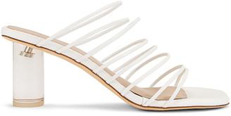 REJINA PYO Zoe 60 Sandal in Leather White | FWRD