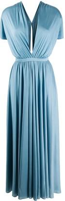 Emilio Pucci V-neck silk long dress