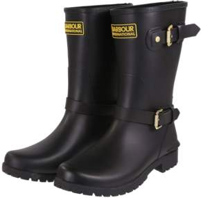Barbour International - Monza Black Short Wellies - black | 37/ UK 4 - Black/Black