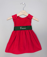 Princess Linens Red & Green Personalized Jumper - Infant, Toddler & Girls