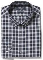 Original Penguin Navy Plaid Dress Shirt