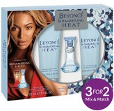 Beyonce Heat Shimmer 30ml EDT Shower Gel + Body Lotion Gift Set