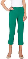 As Is Women with Control Petite Arched Waist Knit Crop Pants