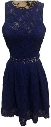 Style Stalker Blue Lace Dress for Women