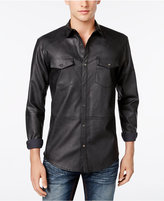 INC International Concepts Men's Hart Faux-Leather Shirt, Only at Macy's