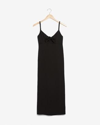 Express Tie Front Midi Slip Dress