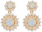 Stella + Ruby White Opal Flower Dual Drop Earrings