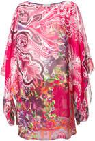 Etro floral print beach dress