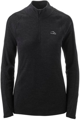 L.L. Bean Women's Cresta Wool Midweight 250 Base Layer, Quarter-Zip